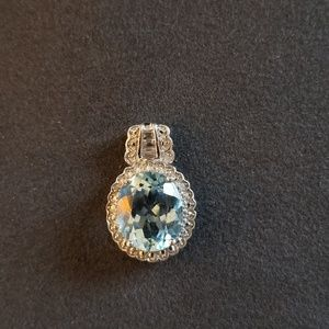 Jewelry - Blue Topaz Pendant in Sterling Silver